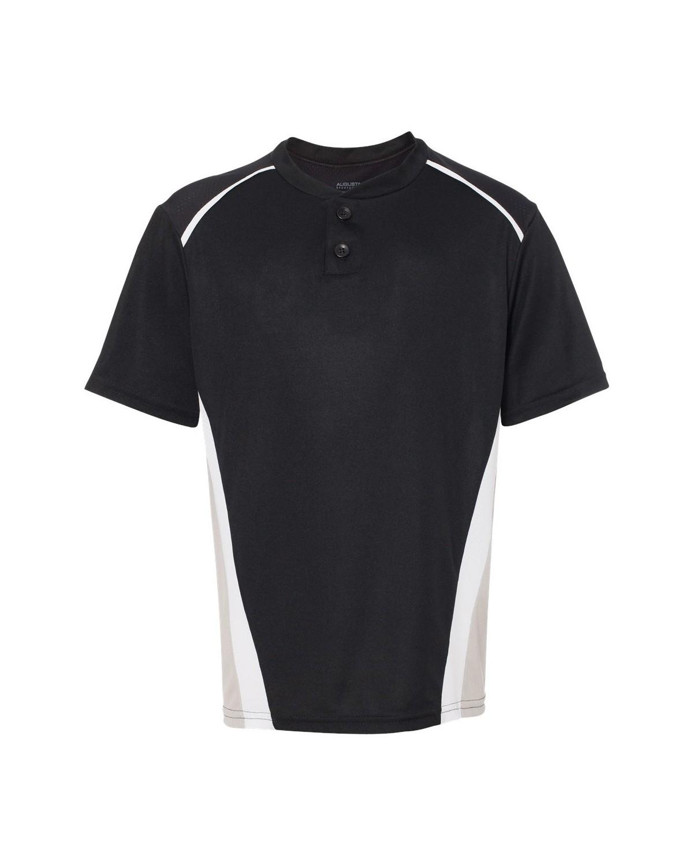 1526 Augusta Sportswear Black/ Silver Grey/ White