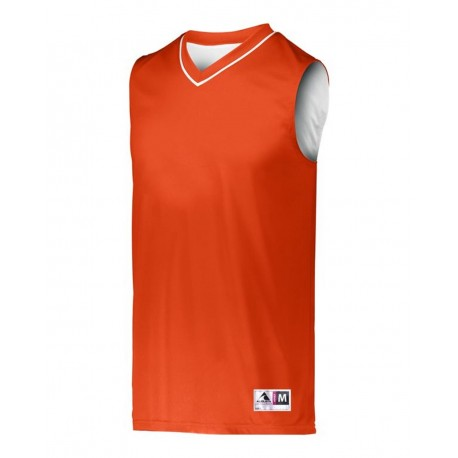 153 Augusta Sportswear 153 Youth Reversible Two Color Jersey ORANGE/ WHITE