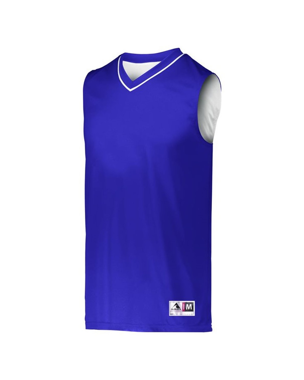 153 Augusta Sportswear PURPLE/ WHITE