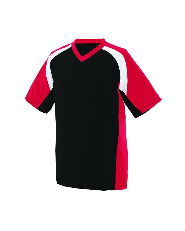 1535 Augusta Sportswear Black/ Red/ White
