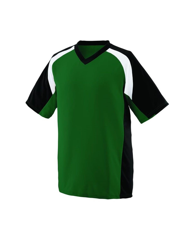 1535 Augusta Sportswear Dark Green/ Black/ White
