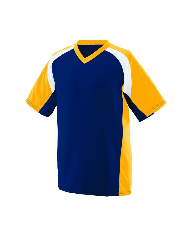 1535 Augusta Sportswear Navy/ Gold/ White