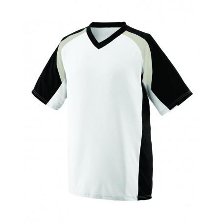 1536 Augusta Sportswear 1536 Youth Nitro Jersey White/ Black/ Silver Grey