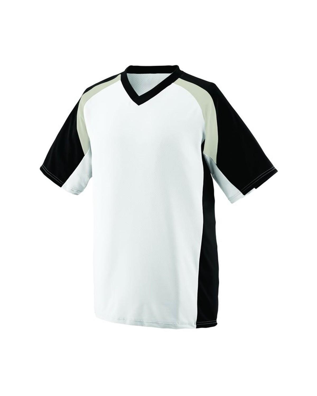1536 Augusta Sportswear White/ Black/ Silver Grey