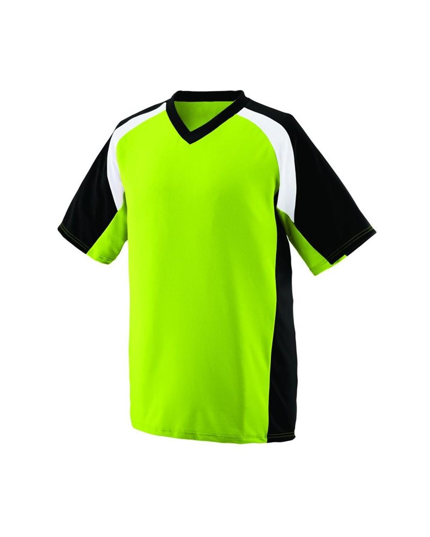 1536 Augusta Sportswear Lime/ Black/ White