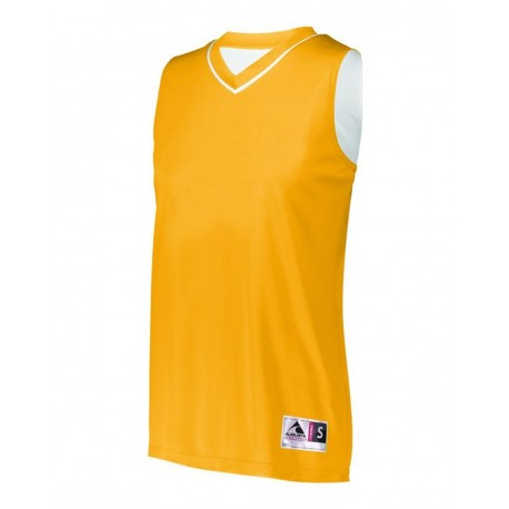 154 Augusta Sportswear 154 Women's Reversible Two Color Jersey GOLD/ WHITE