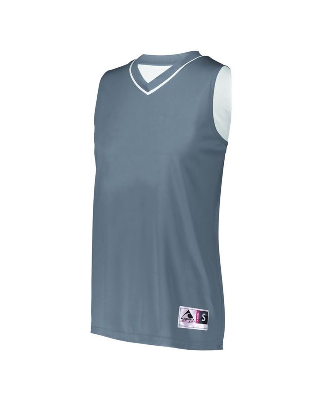 154 Augusta Sportswear GRAPHITE/ WHITE
