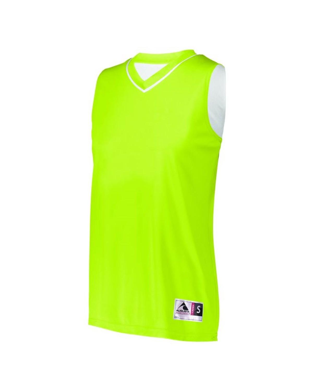 154 Augusta Sportswear LIME/ WHITE