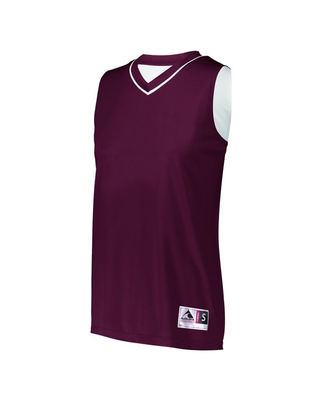 154 Augusta Sportswear MAROON/ WHITE