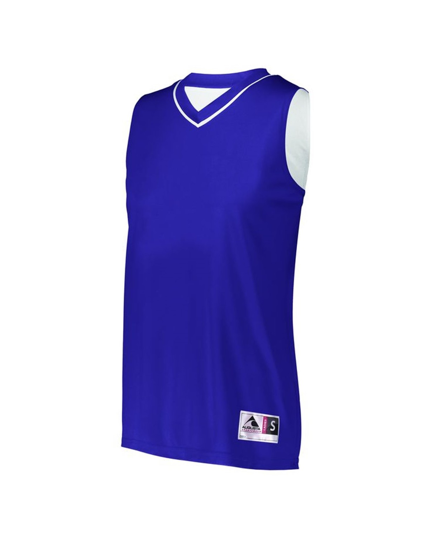 154 Augusta Sportswear PURPLE/ WHITE