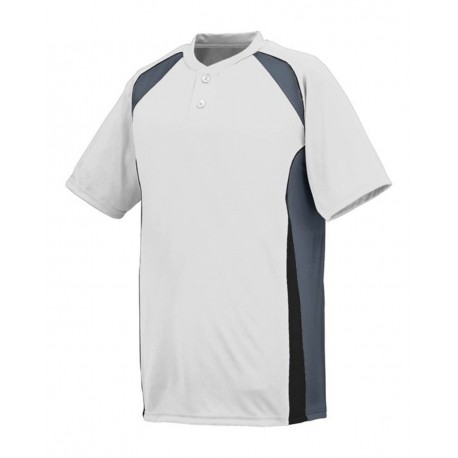 1541 Augusta Sportswear 1541 Youth Base Hit Jersey White/ Graphite/ Black