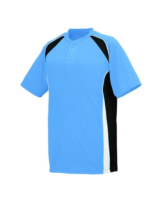 1541 Augusta Sportswear Columbia Blue/ Black/ White