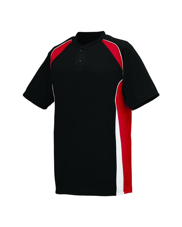 1541 Augusta Sportswear Black/ Red/ White