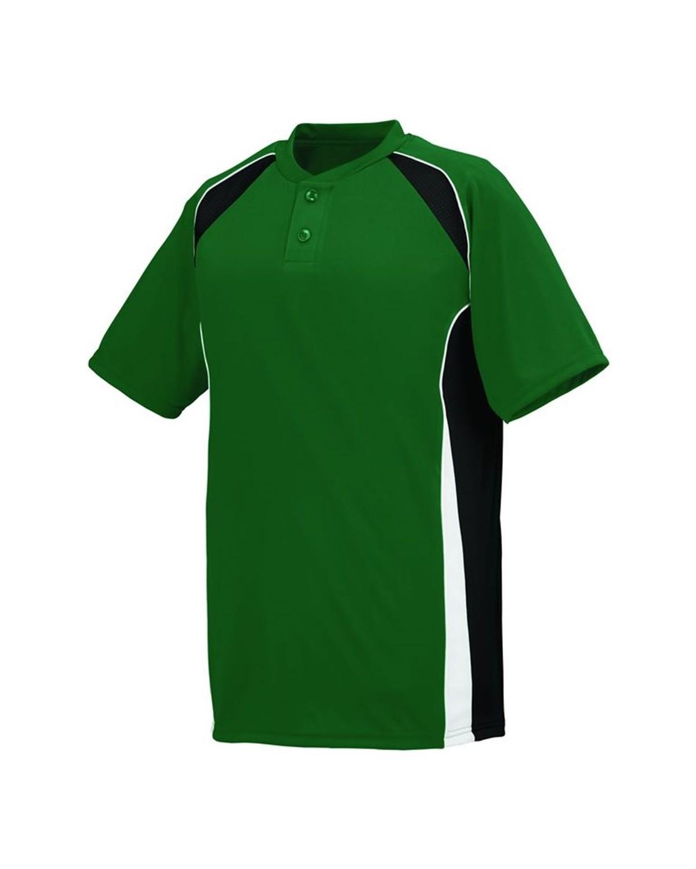 1541 Augusta Sportswear Dark Green/ Black/ White