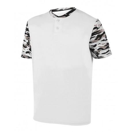1549 Augusta Sportswear 1549 Youth Pop Fly Jersey White/ Black Mod