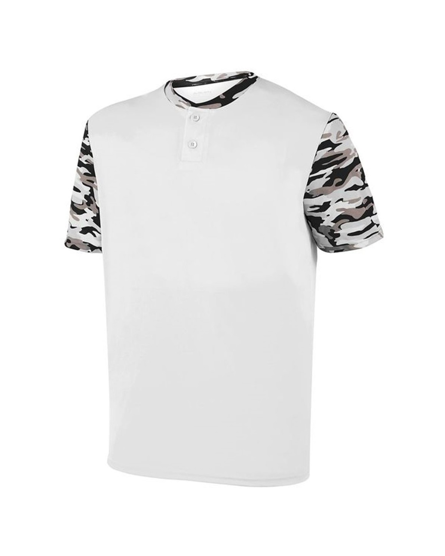 1549 Augusta Sportswear White/ Black Mod
