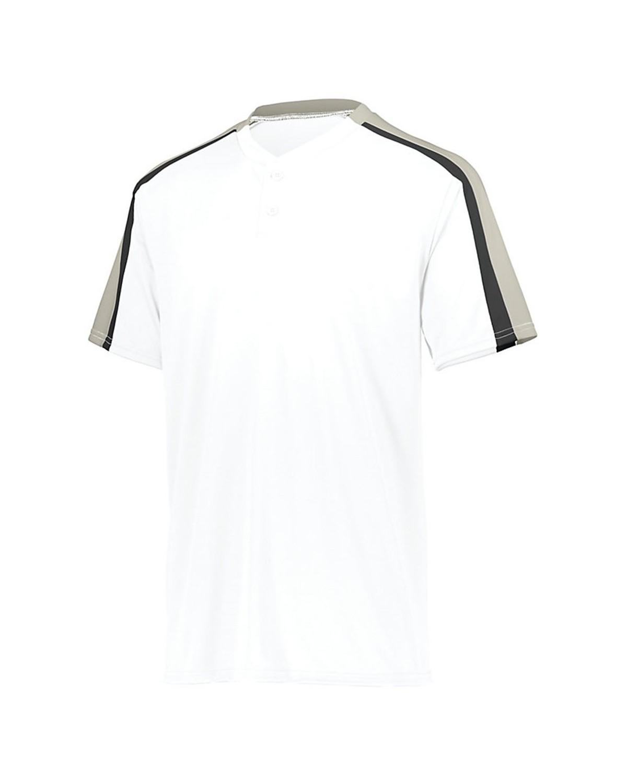 1557 Augusta Sportswear White/ Silver Grey/ Black
