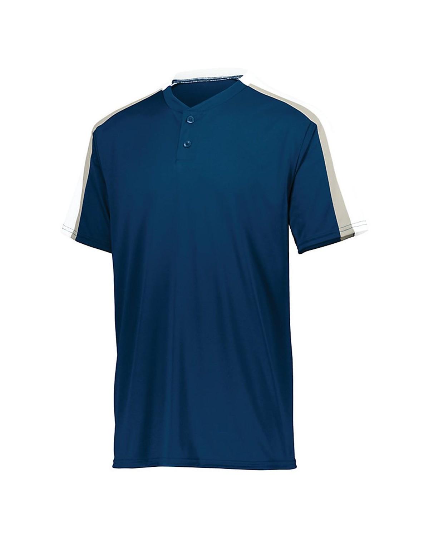 1557 Augusta Sportswear Navy/ White/ Silver Grey