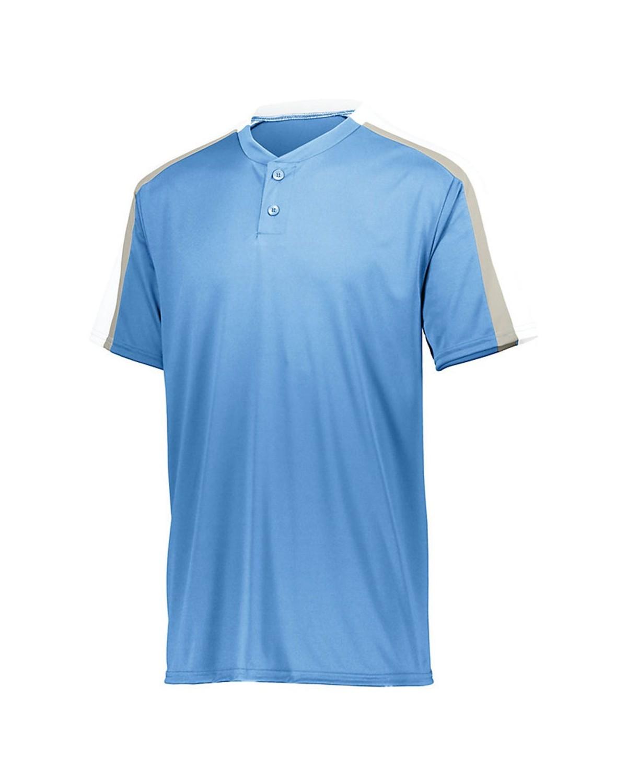 1557 Augusta Sportswear Columbia Blue/ White/ Silver Grey