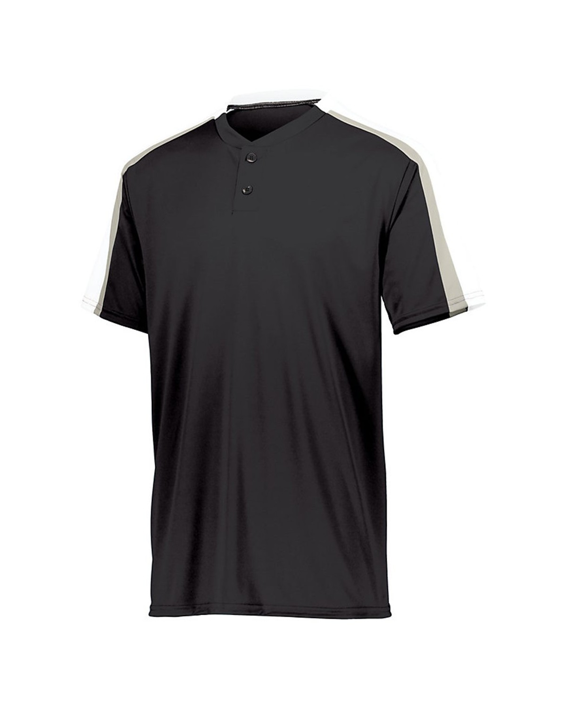 1557 Augusta Sportswear Black/ White/ Silver Grey