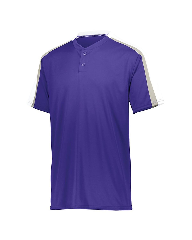 1557 Augusta Sportswear Purple/ White/ Silver Grey