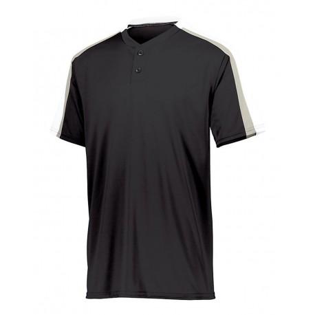 1558 Augusta Sportswear 1558 Youth Power Plus Jersey 2.0 Black/ White/ Silver Grey
