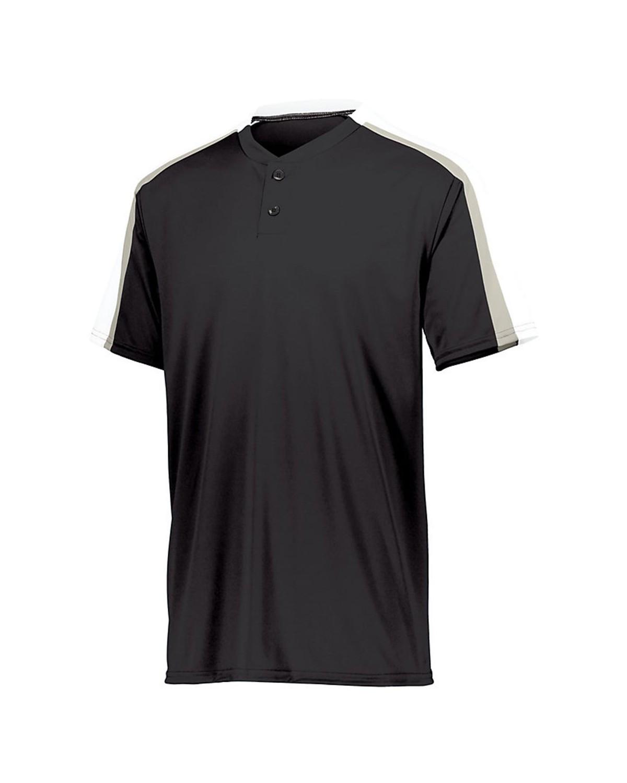 1558 Augusta Sportswear Black/ White/ Silver Grey
