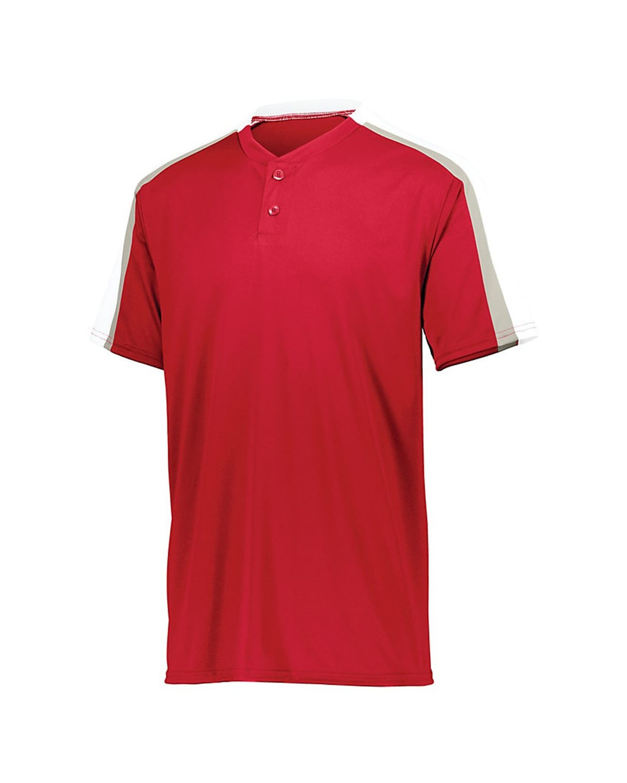 1558 Augusta Sportswear Red/ White/ Silver Grey