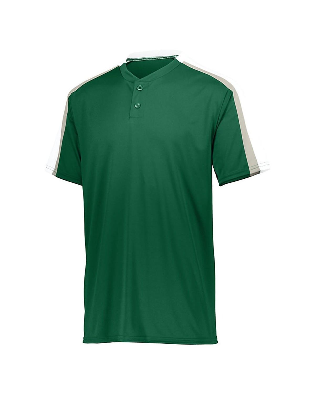 1558 Augusta Sportswear Dark Green/ White/ Silver Grey