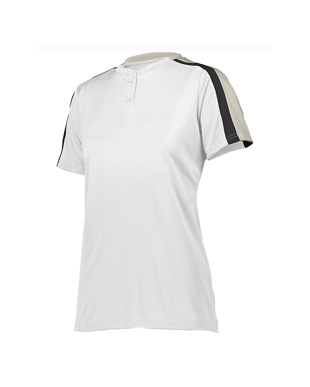 1559 Augusta Sportswear White/ Silver Grey/ Black