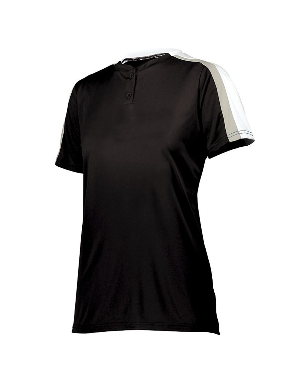 1559 Augusta Sportswear Black/ White/ Silver Grey