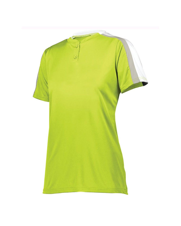 1559 Augusta Sportswear Lime/ White/ Silver Grey