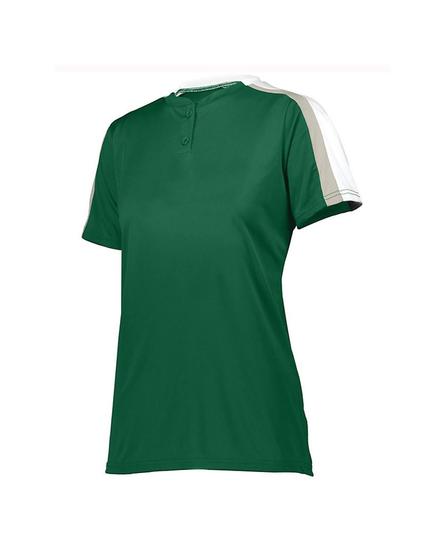 1559 Augusta Sportswear Dark Green/ White/ Silver Grey
