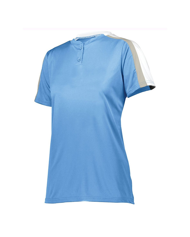 1559 Augusta Sportswear Columbia Blue/ White/ Silver Grey
