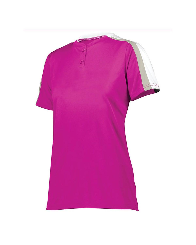 1559 Augusta Sportswear Power Pink/ White/ Silver Grey