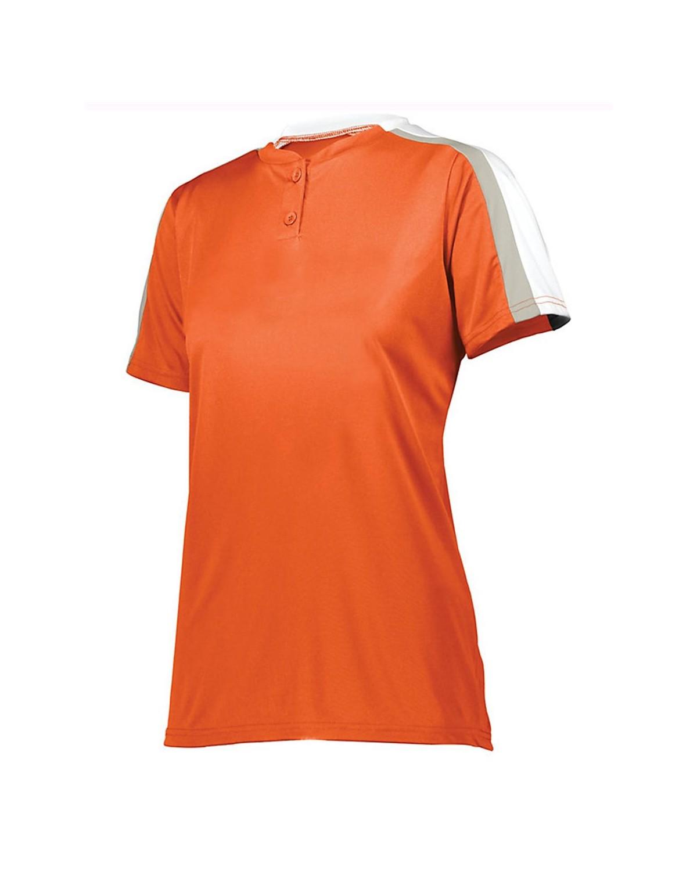 1559 Augusta Sportswear Orange/ White/ Silver Grey