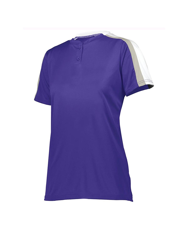 1559 Augusta Sportswear Purple/ White/ Silver Grey