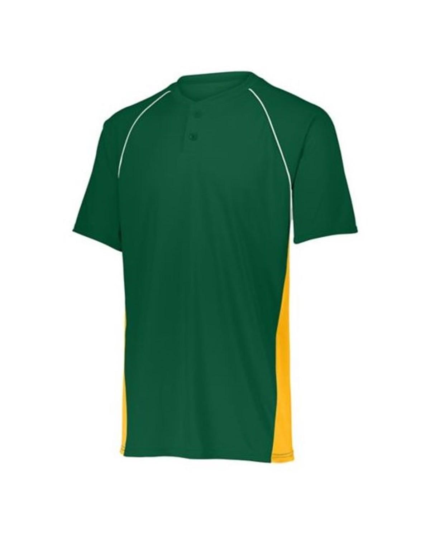 1561 Augusta Sportswear Dark Green/ Gold/ White