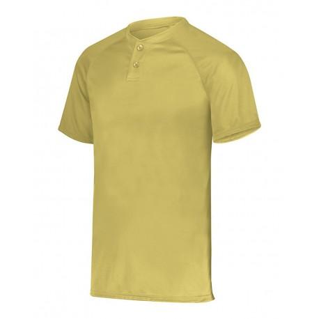 1565 Augusta Sportswear 1565 Attain Two-Button Jersey VEGAS GOLD