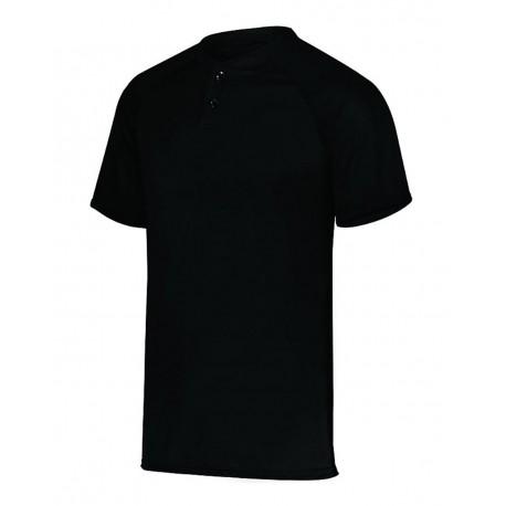 1566 Augusta Sportswear 1566 Youth Attain Two-Button Jersey BLACK
