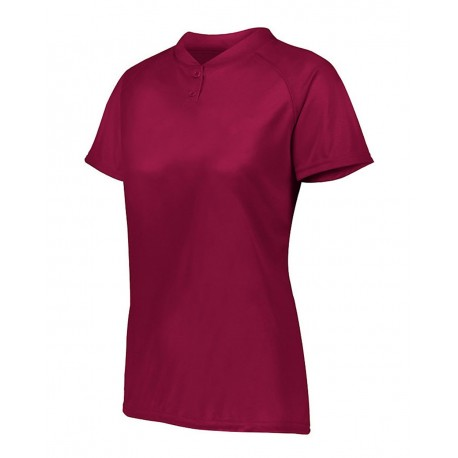1567 Augusta Sportswear 1567 Women's Attain Two-Button Jersey CARDINAL