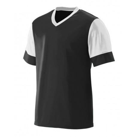 1601 Augusta Sportswear 1601 Youth Lightning Jersey BLACK/ WHITE