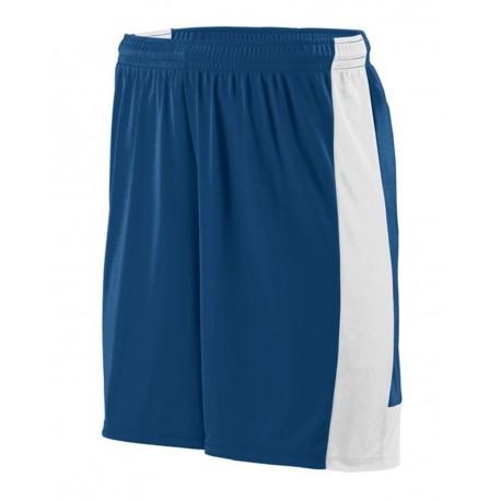 1606 Augusta Sportswear 1606 Youth Lightning Shorts NAVY/ WHITE