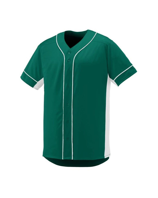 1660 Augusta Sportswear Dark Green/ White