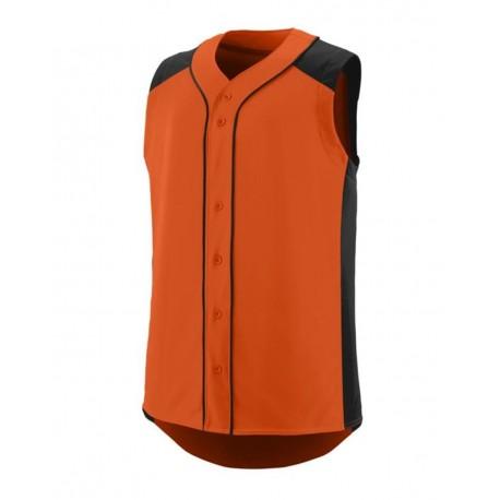 1662 Augusta Sportswear 1662 Sleeveless Slugger Jersey ORANGE/ BLACK