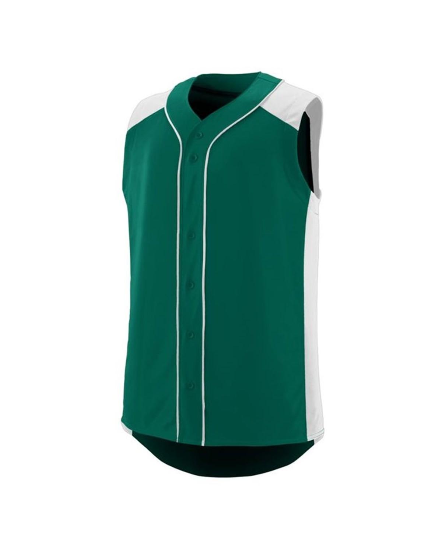 1663 Augusta Sportswear Dark Green/ White
