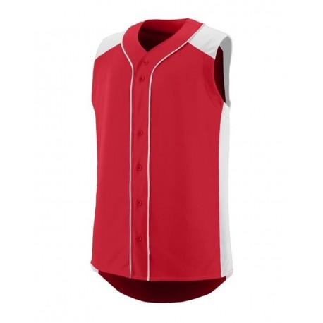 1663 Augusta Sportswear 1663 Youth Sleeveless Slugger Jersey RED/ WHITE