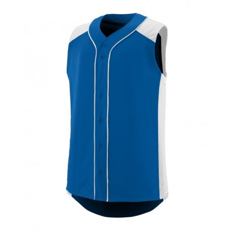 1663 Augusta Sportswear 1663 Youth Sleeveless Slugger Jersey ROYAL/ WHITE
