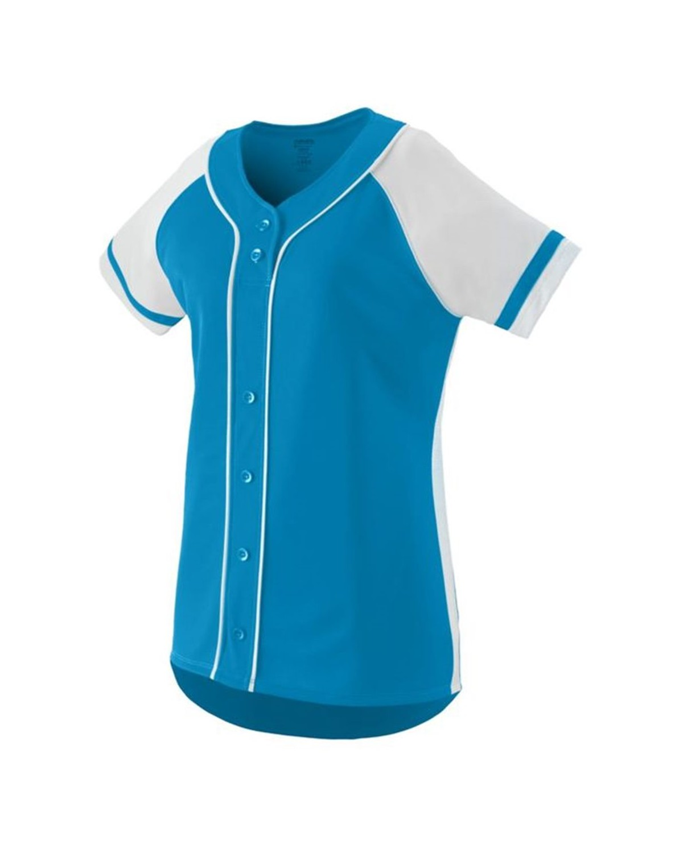 1665 Augusta Sportswear Power Blue/ White