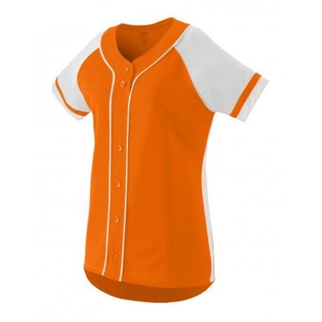 1665 Augusta Sportswear 1665 Women's Winner Jersey Power Orange/ White